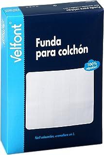 Velfont Funda Colchón Raso Labrado Blanca 150x200 cm