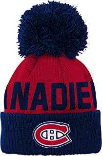 save off a58ea 74367 Outerstuff NHL Unisex-Baby Jacquard Cuff Hat with Pom