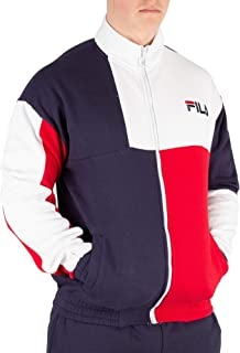 Fila Men's Roland Colour Block Track Top, Blue