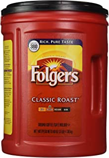 Folgers Classic Medium Roast Ground Coffee Mountain Grown 1,36kg 3lb,48oz,