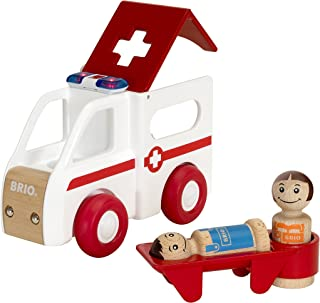 Brio World - 30381 My Home Town Light & Sound Ambulance | 4 Piece Toy for Kids Ages 18 Months and Up