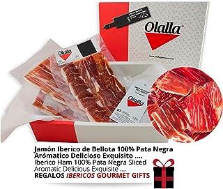 Estuche Jamon Iberico de Bellota 100% Iberico Reserva Pata Negra - 10 Sobres Loncheados de 100 gr...