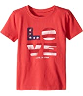 Life is Good Kids - Love Flag Crusher Tee (Toddler)