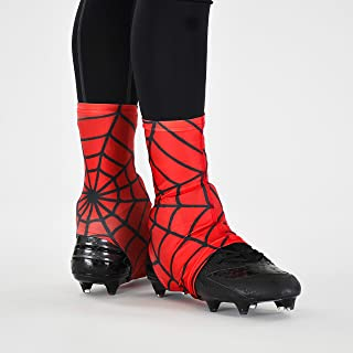 Red Web Pattern Spats/Cleat Covers