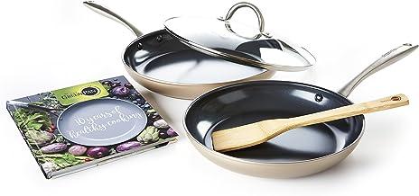 GreenPan Limited Edition 10th Anniversary 5pc Ceramic Non-Stick Cookware Set, Bronze