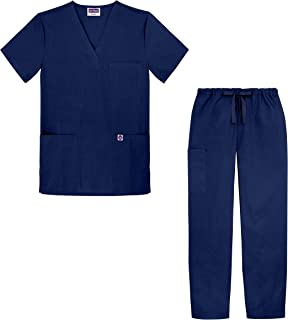 Sivvan Unisex Classic Scrub Set V-Neck Top/Drawstring Pants (Available in 15 Solid Colors)