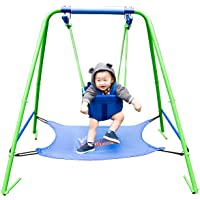Sportspower My First Toddler Swing with Bouncer (Green/Blue)