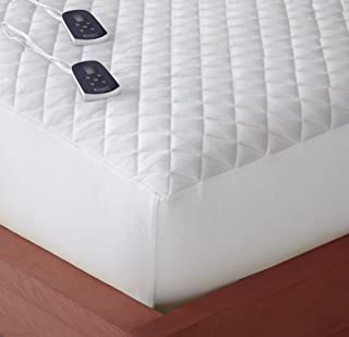 Thermee Micro Flannel Electric Mattress Pad, White, King