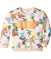 Kenzo Kids - All Over Print Logo Sweatshirt (Little Kids)