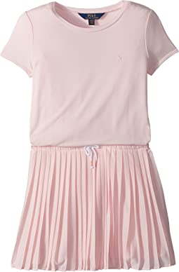 Pleated Jersey T-Shirt Dress (Little Kids/Big Kids)
