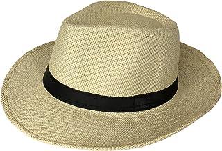 Miobo - Cappello estivo da montagna, in paglia, con cappello