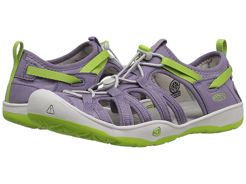 Keen Kids Moxie Sandal (Little Kid/Big Kid) (Purple Sage/Greenery) Girl
