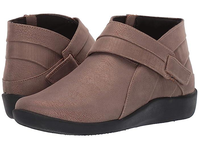 Clarks  Sillian Rani (Pewter Metallic Synthetic) Womens  Boots