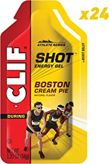 Clif Shot - Energy Gels - Boston Cream Pie - (1.2 Ounce Packet, 24 Count)