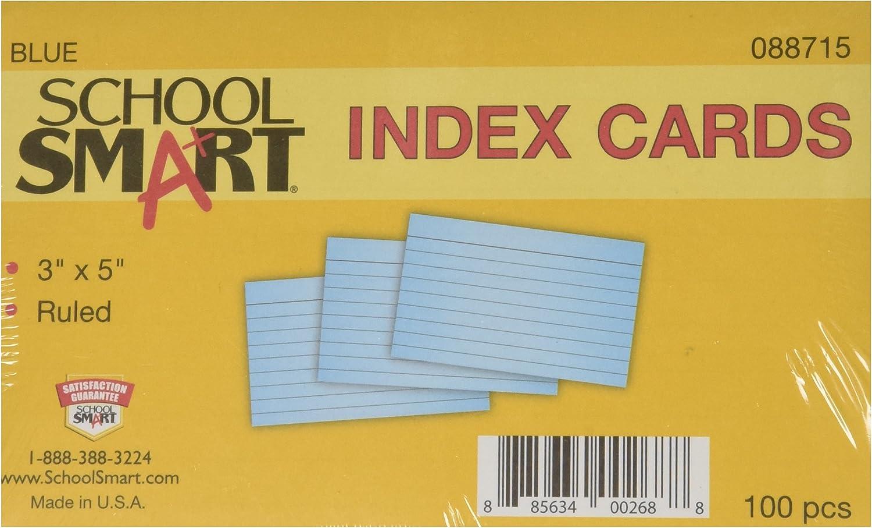 Schule smart Schwergewicht liniert Index Index Index Karten – 7,6 x 12,7 cm – 100 Stück – BLAU B003U6OURA |   | Deutschland  4c588c