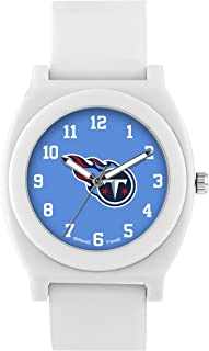 Game Time Women's 'Fan' Quartz Plastic and Rubber Casual Watch, Color:White (Model: NFL-FNW-Ten)