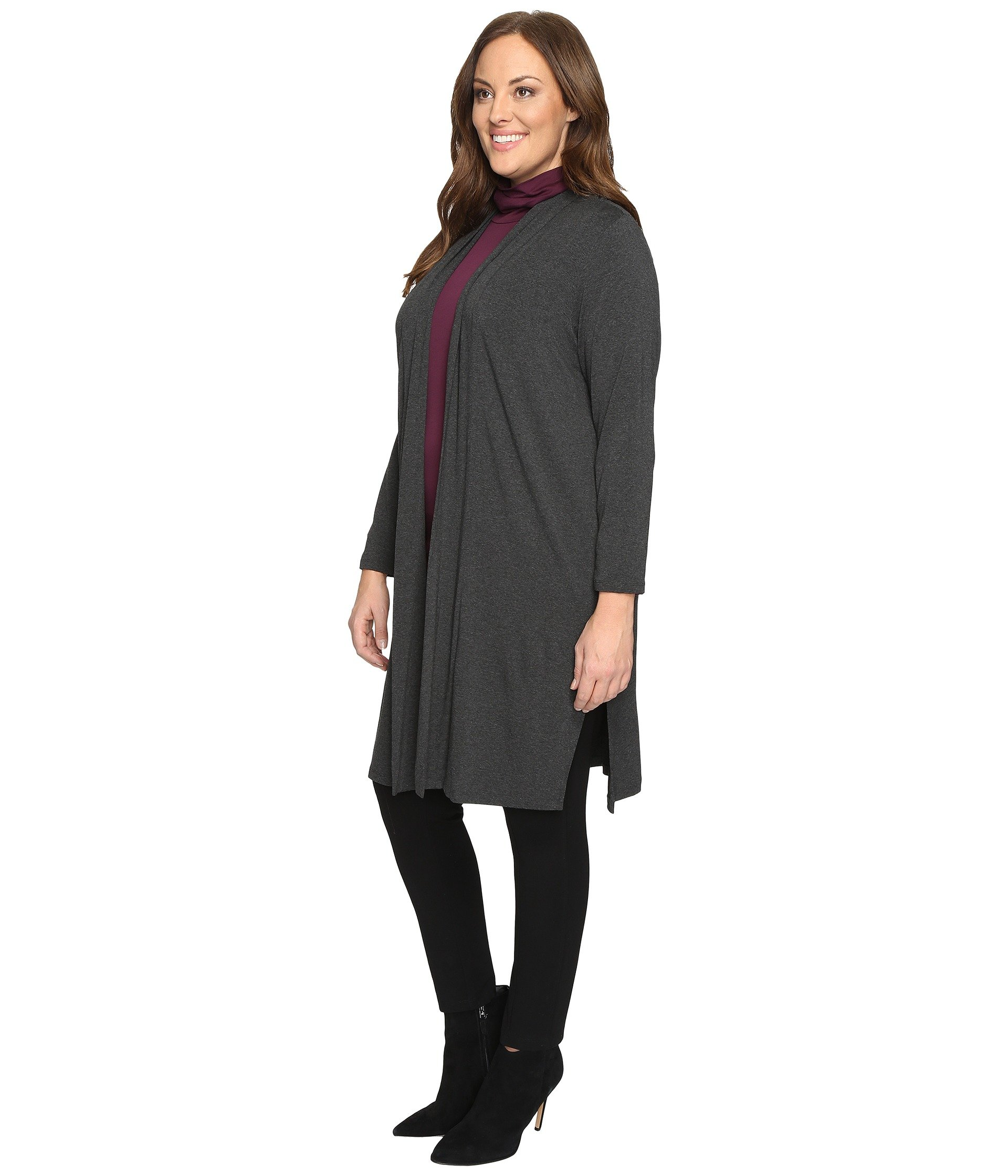 Vince Camuto Specialty Size Plus Size Long Sleeve Open Front Maxi ...