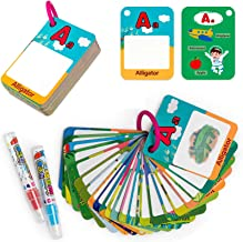 teytoy ABC Toddlers Water Drawing Card, 26 Pcs Educational Coloring Doodle Card with Magic Pen, Travel Activities Toy for ...