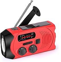 Wind Up Emergency Weather Radio, AM/FM/NOAA Solar Crank Radio with 2000 mAh Power Bank, Flashlight,SOS Alarm, Phone Charge...