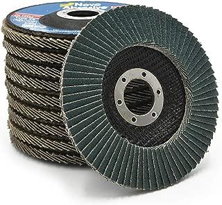 10 PCS Premiun Zirconia Flap Grinding Disc 120 Grit 4.5 x 7/8 Inch Sanding Flapper Wheel Type 29 by NOVOABRASIVE