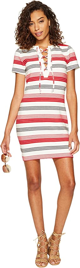Lijah Stripe Knit + Rib Trim Dress
