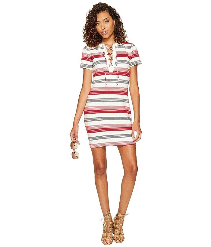 0611a4d470 Jack by BB Dakota Lijah Stripe Knit + Rib Trim Dress at 6pm