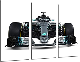 MULTI Wood Printings Art Print Box Framed Picture Wall(Total Size: 38 x 24.4 in),Formula 1Car,Mercedes F1W09, Mercedes F12018, Lewis Hamilton, Valtteri Bottas-Framed And Ready To Hang-ref. 27106
