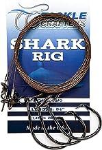 Aqua Clear Double Crimped 100lb Shark Surf Rig Circle Hook w// Fish Finder