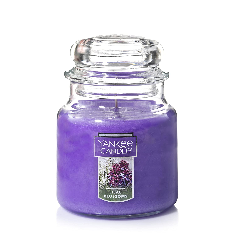 摂氏度センサー行方不明Yankee CandleライラックBlossoms Medium Jar 14.5oz Candle One パープル 1006996