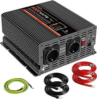 1000W 24V Olibelle Onduleur Sinuso/ïdal Pur 1000W 24V DC /à 230V AC Convertisseur avec T/él/écommande pour Voiture de Camion de RV
