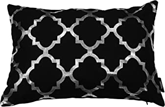 Kensie Holly Decorative Pillows, Inserts & Covers, Black-Silver
