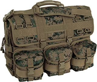 Mercury Tactical Gear Code Alpha Computer Messenger Bag with Molle Pouches, Marpat, Woodland