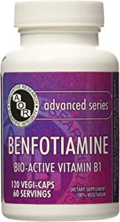 Advanced Orthomolecular Research AOR Benfotiamine 80 mg Capsules, 120 Count