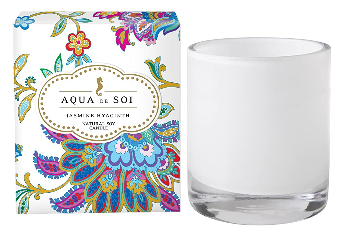 枯渇する不名誉な手のひらSoi会社Aqua De Soi 100?%プレミアム天然Soy Candle、11オンスBoxed Jar ホワイト unknown