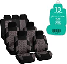 Airbag Compatible Black//Red Color Lingyue Full Coverage Leatherette Custom Exact Fit Full Set Three Rows Car Seat Cove for Toyota Highlander 2014 2015 2016 2017 2018 2019