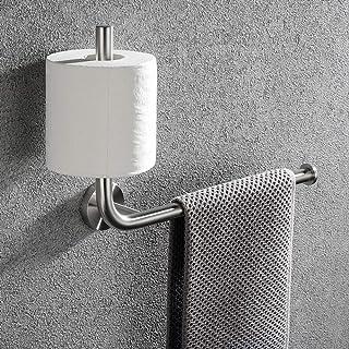 Lolypot Porte-serviettes avec porte-rouleau de papier toilette en acier inoxydable 304, support mural double porte-papier ...