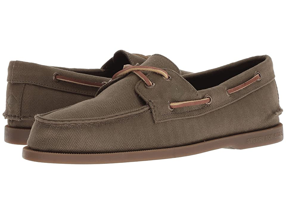Sperry A/O 2-Eye Surplus (Olive/Gum) Men