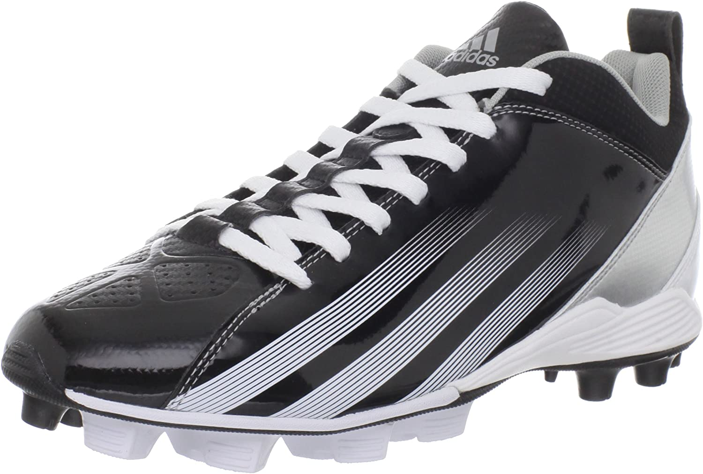 Adidas Blast 3 Md 5  8 Football Cleat,svart  springaning vit  Metall silver,8.5 M Us