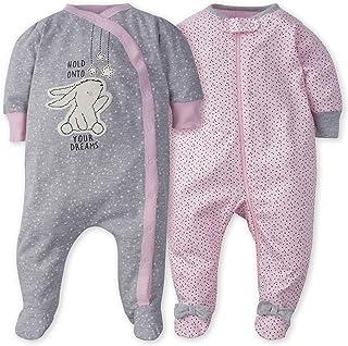 Gerber baby-girls 2-Pack Sleep 'N Play Sleepers