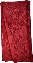 بطانية من صوف الفلانيل الناعم، بلون احمر داكن، مقاس سينغل، 200×160 سم