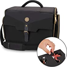 ENHANCE Portable Miniature Figure Storage & Carrying Case - 4 Foam Layers fits 108 Infantry Minis & Pick & Pluck for Large Figures - Book Sleeve & 2 Accessory Pockets for Measuring Tape, Dice & More