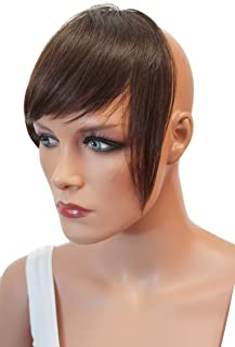 PRETTYSHOP 100% Real Human Hair Clip in Bang Fringe Extensions Hairpiece Div. Colors H313f