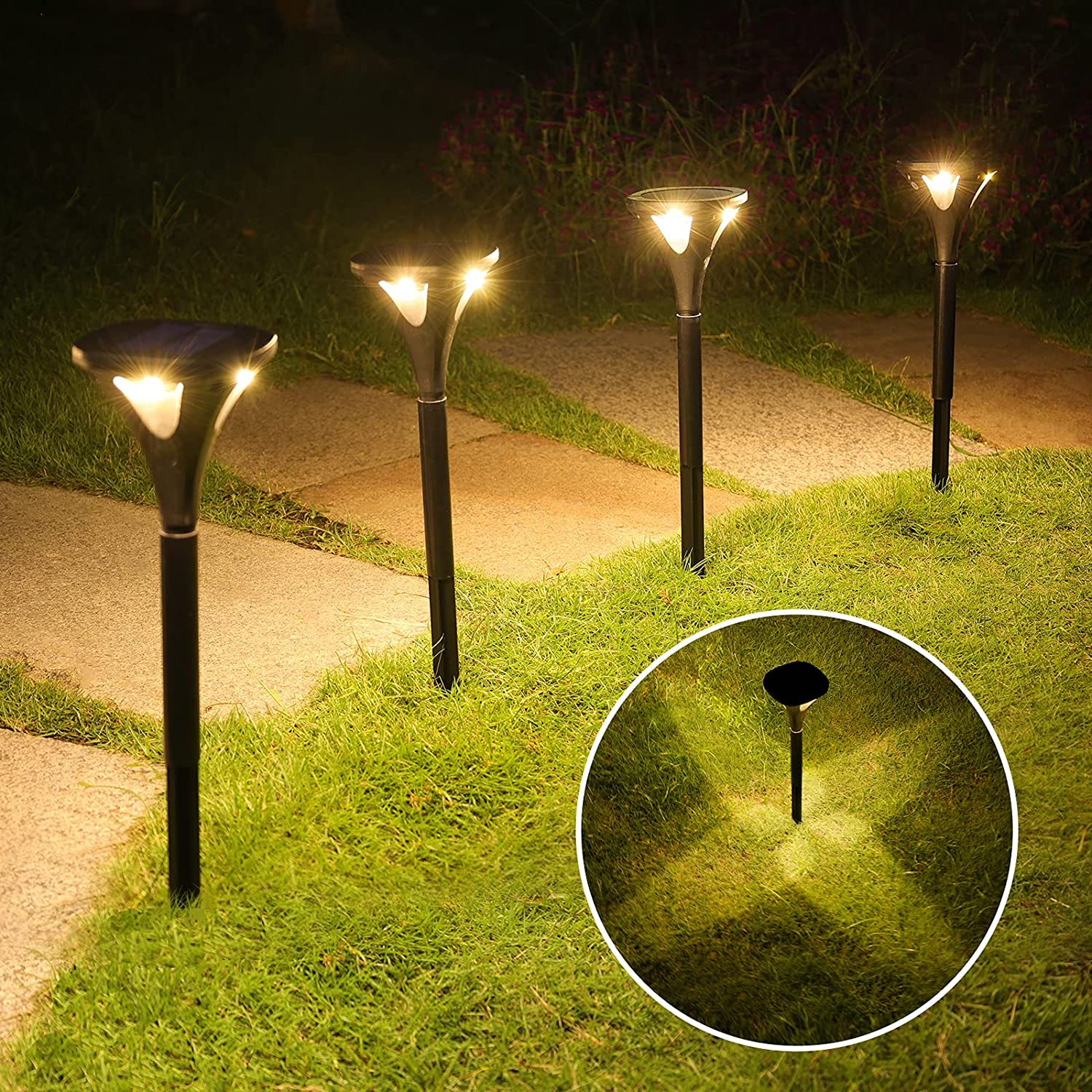 NIORSUN Solar Max 50% OFF Pathway Lights Outdoor Light Be super welcome 5 Modes