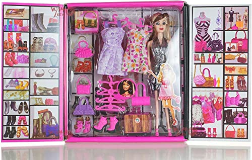 BKDT Marketing Beautiful Doll Toy for Girls (Doll with 20 Accessories)