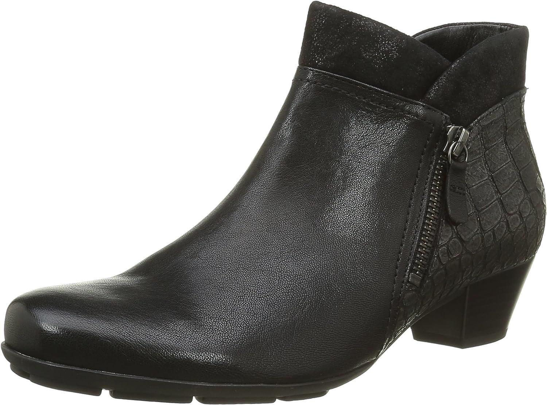 Gabor Women Ankle Boots Black, (black (Micro)) 55.634.57