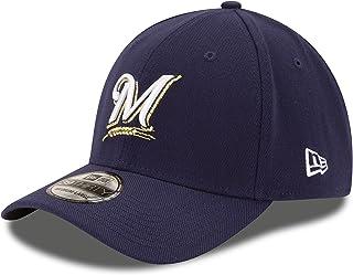 New Era Milwaukee Brewers Fitted 39Thirty MLB Curve Bill Baseball Cap 3930