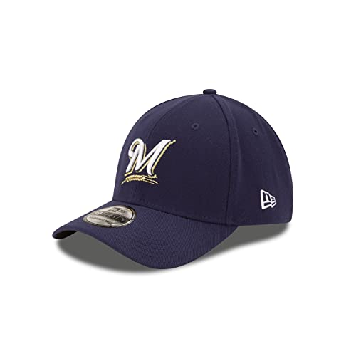 30233a6c596793 MLB Milwaukee Brewers Team Classic Game 39Thirty Stretch Fit Cap, Blue,  Small/Medium