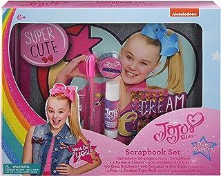 Jojo Siwa Scrapbook Set Includes Scrapbook, Pattern Sheets, Stickers, Cut Outs, Gem Stickers, Sequins, Glue Stick, Pen, Design Tape Roll Fun Decorating Activity Kit - Jo Craft Signature Collection