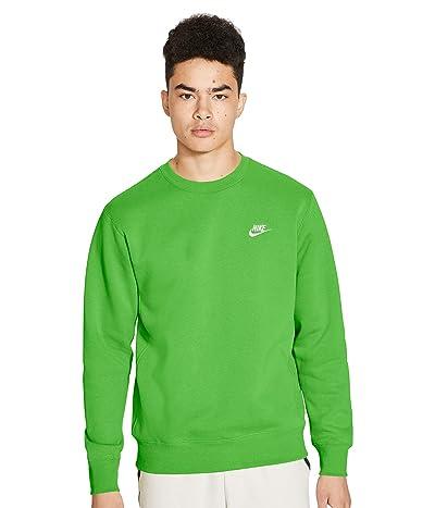 Nike NSW Club Crew (Mean Green/White) Men