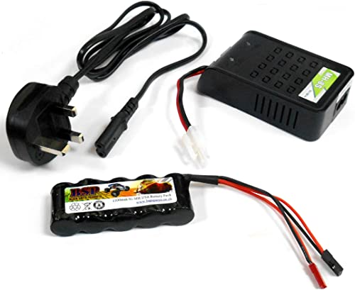 BSP RC Receiver 1200mah 6v Battery Pack and Charger JR JST Stick 5 Cell MH-8S